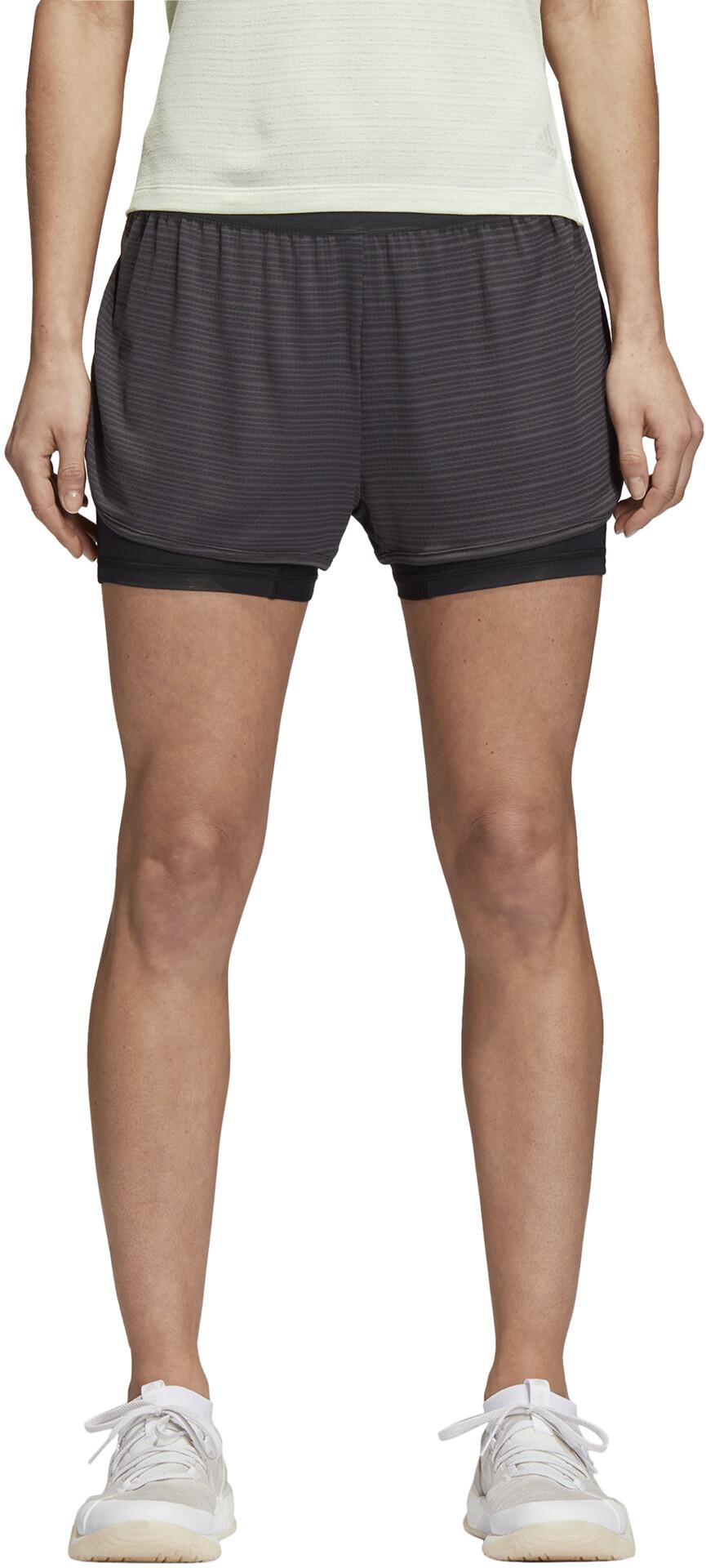 Mujer 2in1 Running Pantalones Adidas es Chill Gris Campz Cortos POwXZppq
